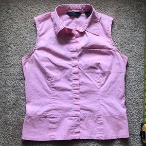 Express pink sleeveless button down